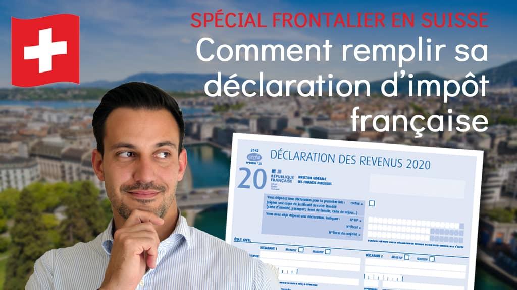 auto déclaration impôt frontalier suisse